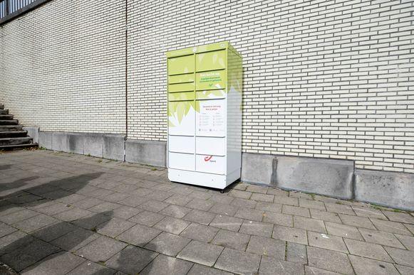 Een van de pakjesautomaten.