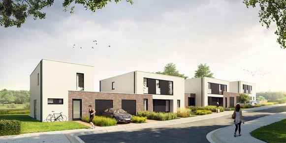 De energievriendelijke woningen in de Marlierstraat in Asse.
