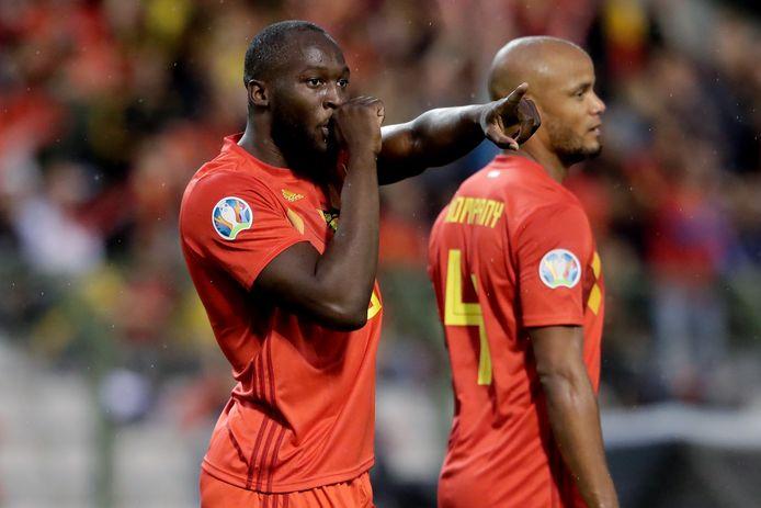 Romelu Lukaku was met twee goals belangrijk voor de Rode Duivels.