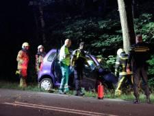 Auto botst tegen boom bij Ermelo: bestuurster ernstig gewond