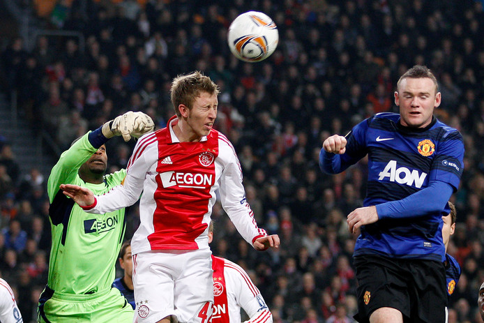 Dico Koppers tijdens Ajax - Manchester United in 2011.