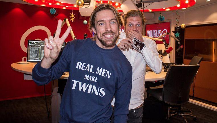 Mattie en Wietze toen bekend werd dat eerstgenoemde vader werd van een tweeling. Beeld Instagram