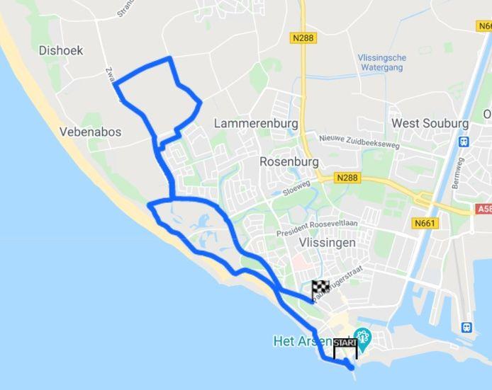 Het parcours van de Binck Bank Tour woensdag.