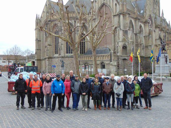 Vrijwilligers zwerfvuilactie Poperinge