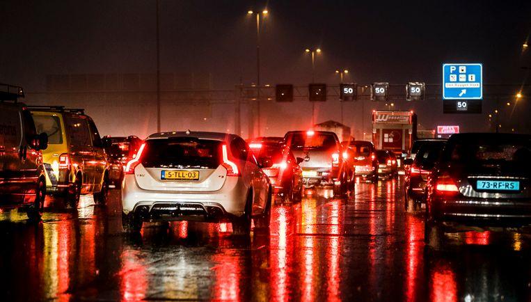 File  op de A4 nabij Schiphol Beeld ANP