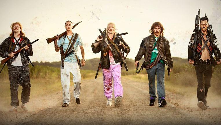 New Kids Turbo!, de film over vijf Brabantse asociale, permanent bierdrinkende mannen. Beeld gpd