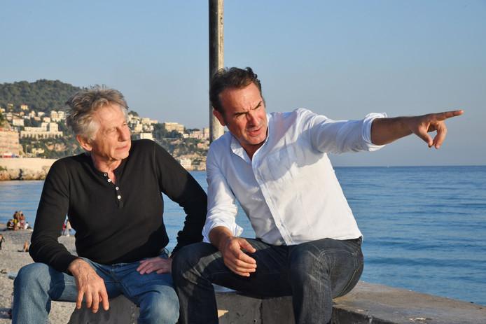 Roman Polanski et Jean Dujardin à Nice pour la clôture de la 1re édition du Festival Ciné Roman le 26 octobre 2019.