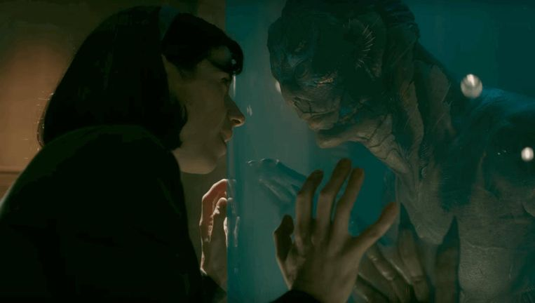 Sally Hawkins in The Shape of Water (Guillermo del Toro, 2017). Beeld