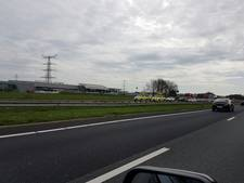 Lange file op A35 bij Almelo na ongeluk