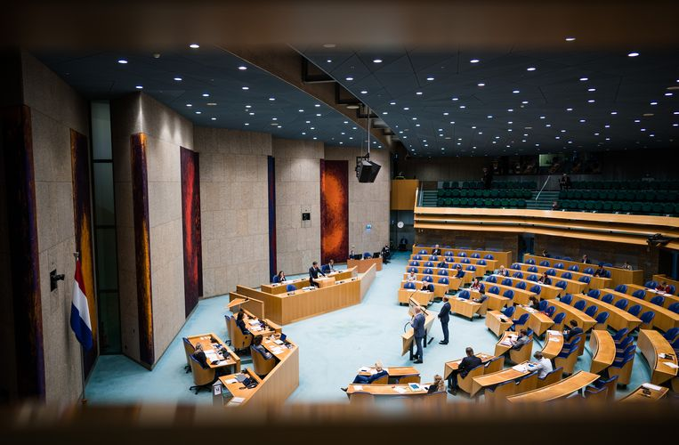 De Tweede Kamer stemt over moties. Beeld ANP