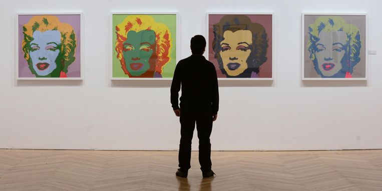 De werken van onder meer Andy Warhol zijn tot en met 30 september te zien Beeld anp