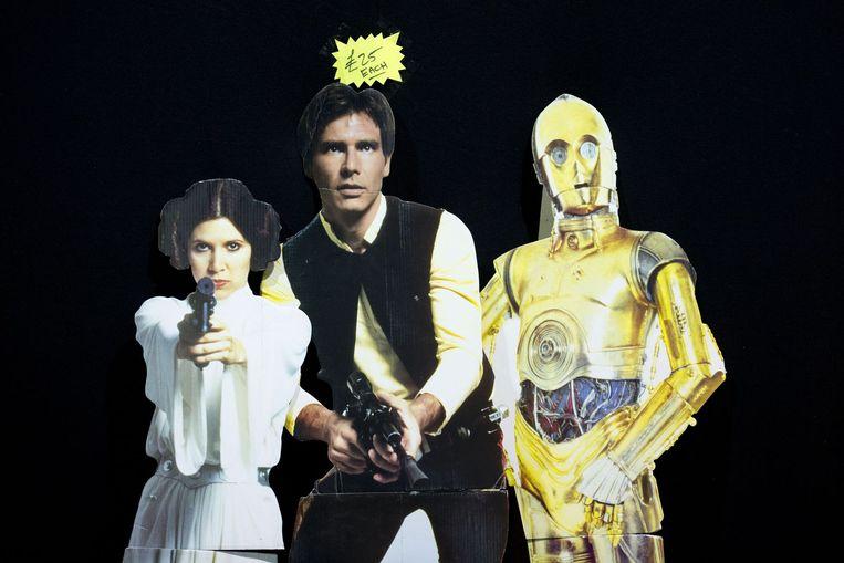 Star Wars-karakters te koop als cardboard in Manchester, Engeland. Beeld null