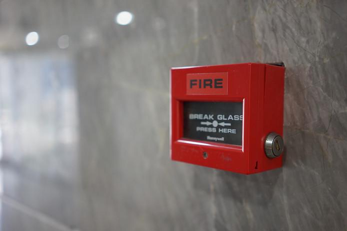 Een brandalarm, foto ter illustratie