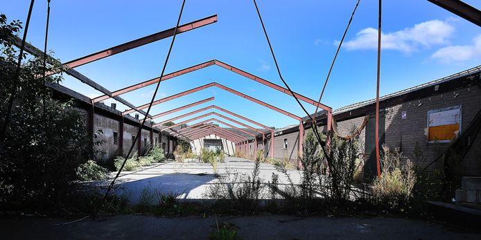 Een verlaten stal in Landhorst.