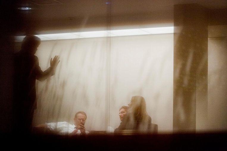 In overleg met de CDA-top over de PVV-gedoogsteun, 2010. Beeld M. Beekman