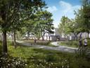 Sfeerimpressie van de nieuwe huizen in het Sesterpark op Uden-Zuid.