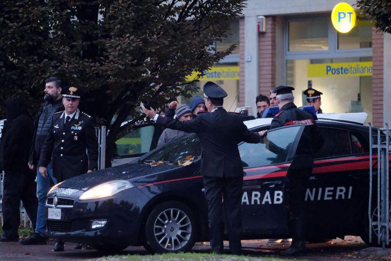 De Italiaanse Carabinieri tijdens een politieactie gericht tegen de 'Ndrangheta eerder deze maand  Beeld EPA