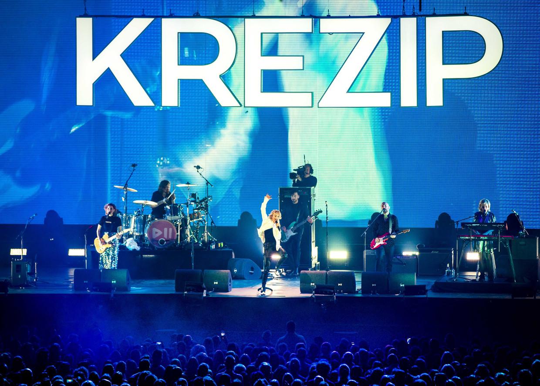 Krezip in de Ziggo Dome tijdens het eerste van drie herenigingsconcerten. Beeld ANP