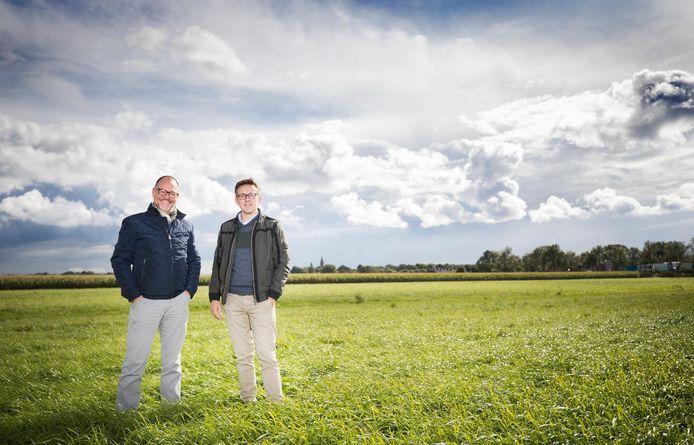 Herenboeren Kees Rezelman (links) en Jeroen Meeder.
