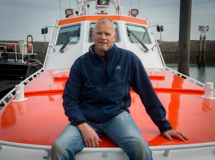 Johannes Post aan boord van reddingsboot de Koopmansdank