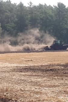 Bosbrand langs A12 bij Arnhem blijkt stofwolk van boer