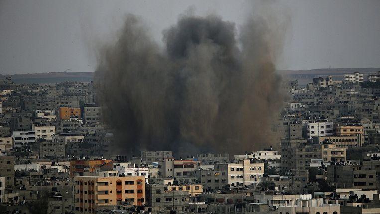 Eem explosie in Gaza-Stad. Beeld epa