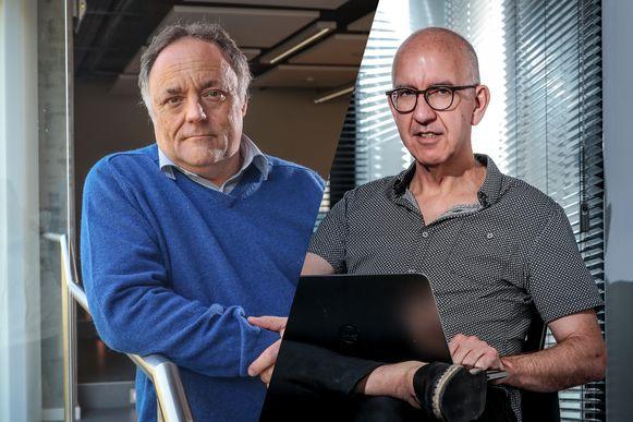 Viroloog Marc Van Ranst en biostatisticus Geert Molenberghs.