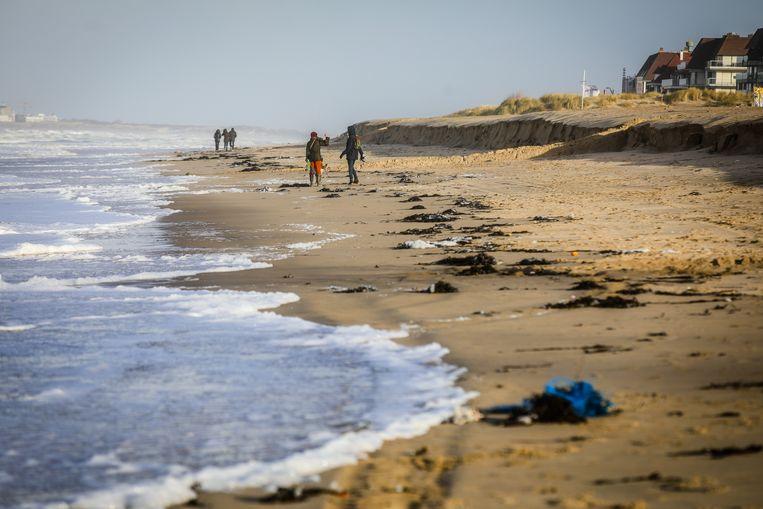 Kliffen op het strand in Knokke.