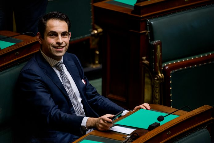 Tom Van Grieken, le président du Vlaams Belang.