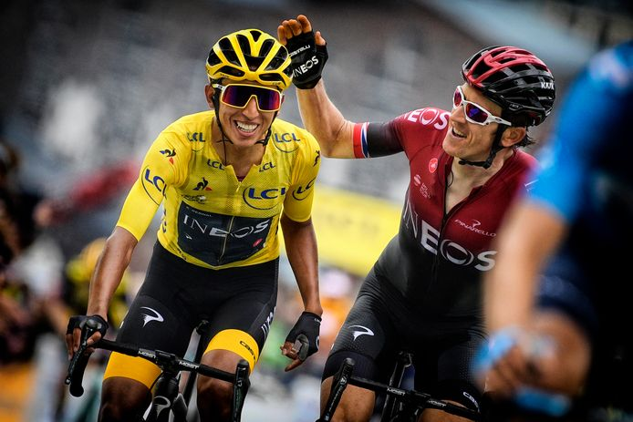 Egan Bernal en Geraint Thomas.
