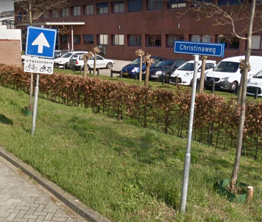 De Christinaweg in Wageningen.