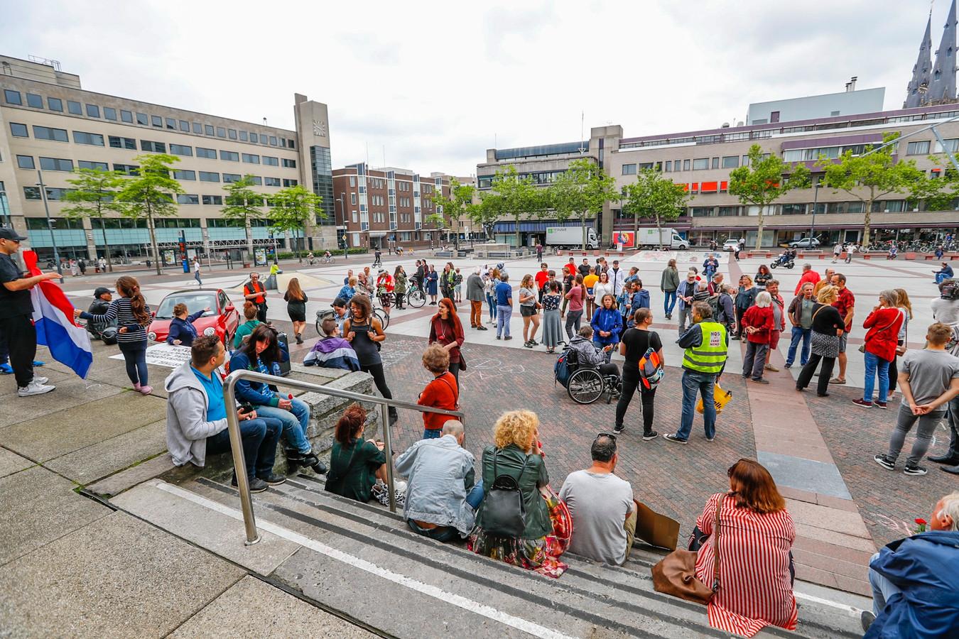 Demonstratie tegen Pegida in Eindhoven