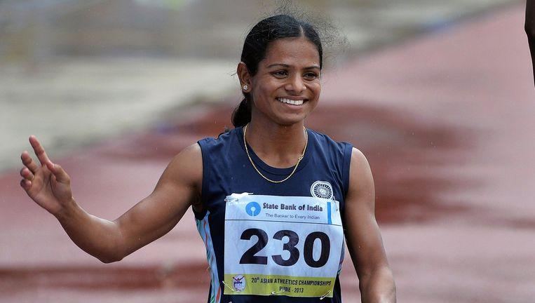 Sprintster Dutee Chand uit India wordt niet langer geweerd. Beeld AFP