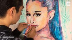 Bijzondere portretten: kunstenaar vereeuwigt celebs met tandpasta
