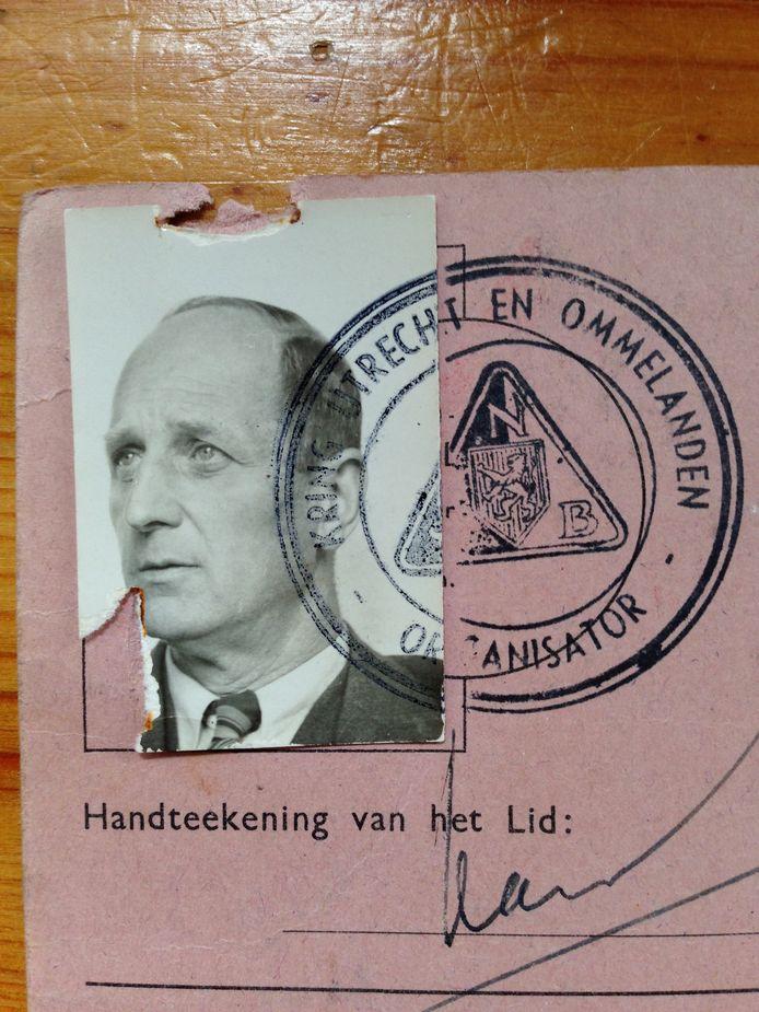 NSB-lidmaatschapskaart van Karel Strack van Schijndel