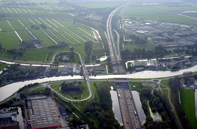 De A12 bij Gouda