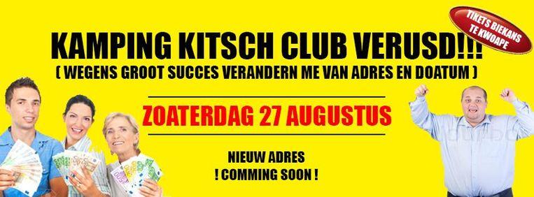 De nieuwe locatie van de marginaalste fuif van Knokke werd al aangekondigd op Facebook.