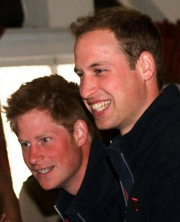 Harry et William d'Angleterre.