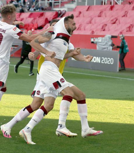 90+6: Bizarre ontsnapping houdt Nürnberg in de Tweede Liga
