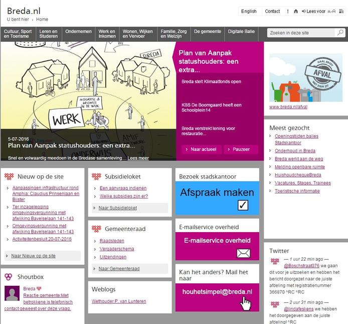 De website van Breda voldoet aan de internetstandaarden