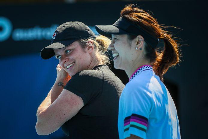 Kim Clijsters en Li Na.