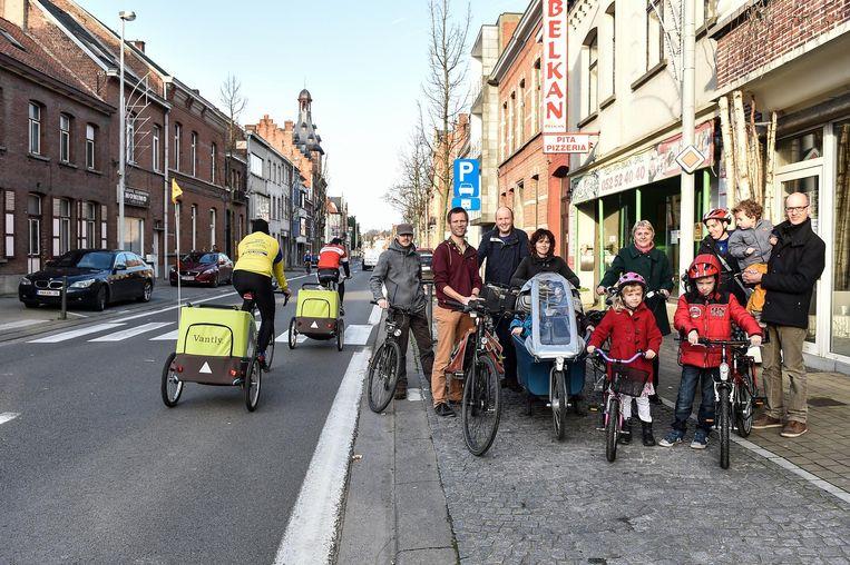 De Fietsersbond hoopt dat het aan de Sint-Gillislaan veiliger wordt voor fietsers.