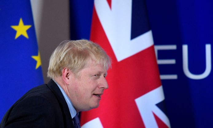 De Britse premier Boris Johnson