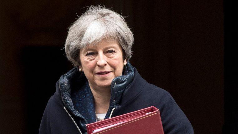 Premier Theresa May heeft Poetin een ultimatum gesteld. Beeld null