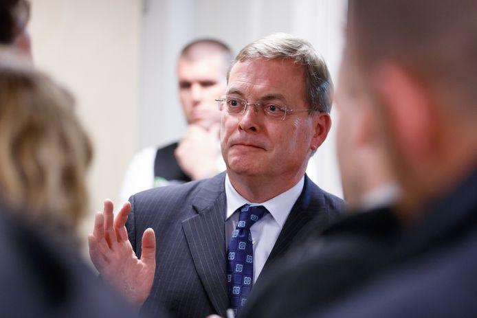 De afgetreden burgemeester van Oosterhout, Stefan Huisman