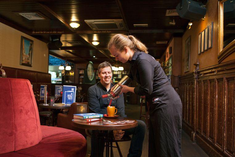 Jeff Kinney, gefotografeerd in Leeuwarden. Beeld Marijn Scheeres