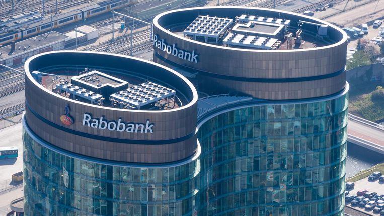 Luchtfoto van het hoofdkantoor van de Rabobank Beeld anp