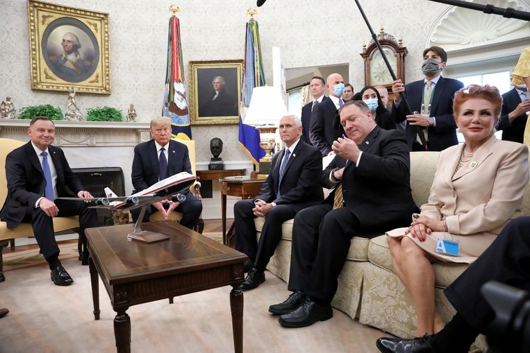 Het is het eerste bezoek van een staatshoofd aan het Witte huis sinds de piek van de coronapandemie in de VS.