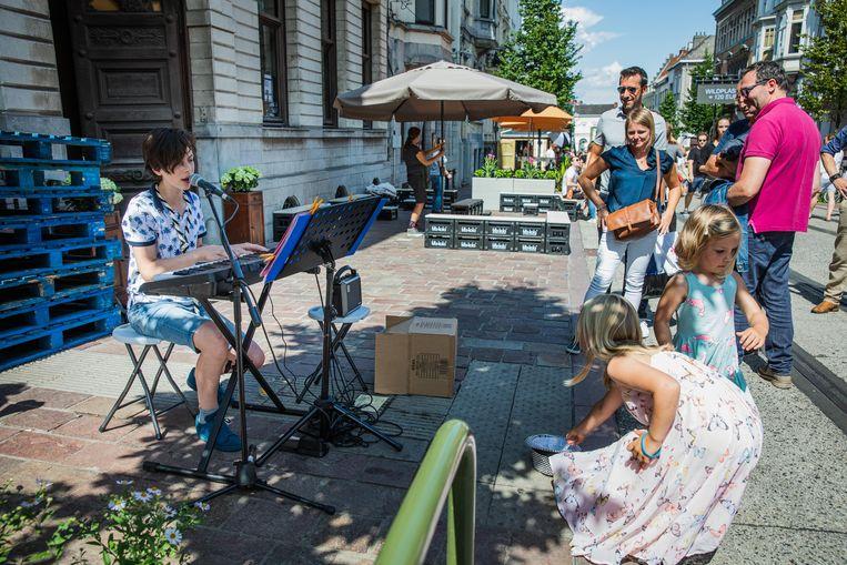 Tamsen als straatmuzikant op de Gentse Feesten