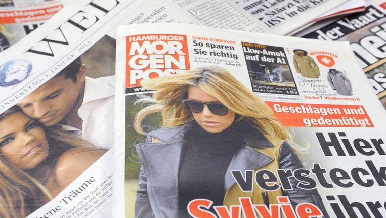 Duitse kranten over de scheiding van het 'droompaar' Rafael en Sylvie. Beeld epa